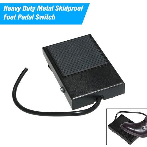 """main image of """"Interruptor de reposicion metal resistente antideslizante interruptor de pie del pedal del interruptor de pedal del pie momentaneo Control 3 Wire NO / NC Auto"""""""