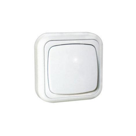 Interruptor de superficie 10A/250V~ Electro Dh 36.480/I, color blanco, 8430552111497