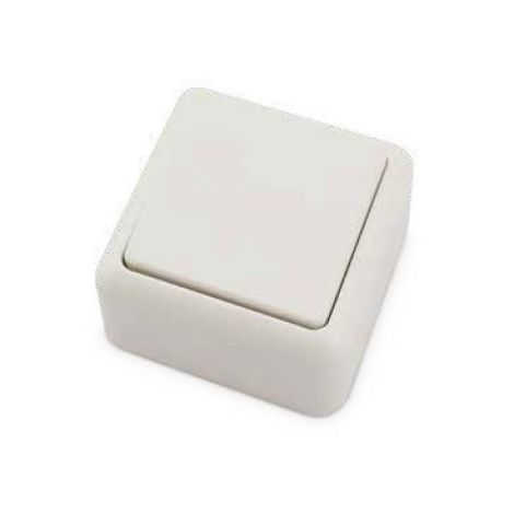 Interruptor de superficie Blanco 60x60x30mm 10A 250V GSC 0201023