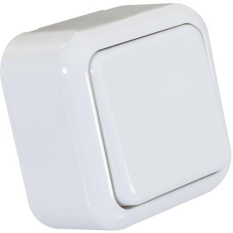 Interruptor de Superficie Simple Conmutado Blanco