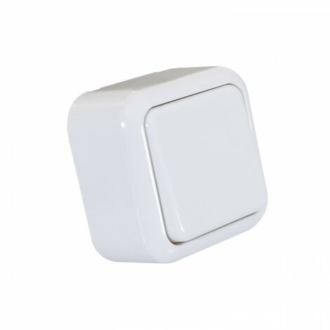 Interruptor de Superficie Simple de Cruzamiento Blanco