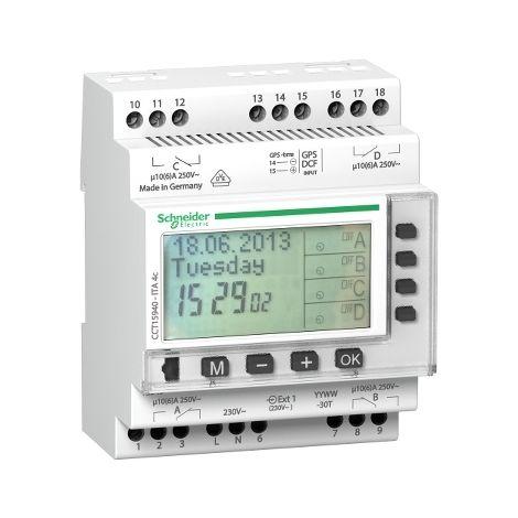 Interruptor de Tiempo Anual 4 canales SCHNEIDER ELECTRIC CCT15940
