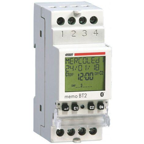Interruptor de tiempo de electrónica digital Vemer Memo BT2 VE767700