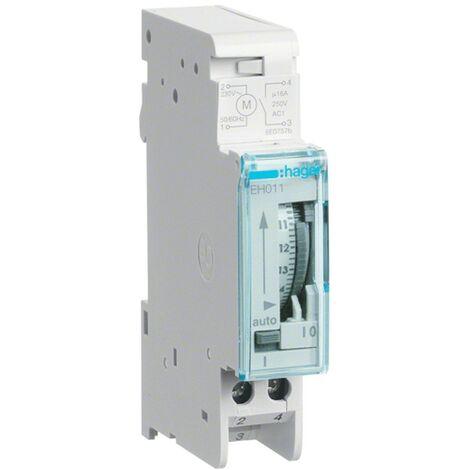 Interruptor de tiempo Hager diario de reserva 1NA 1 módulo EH011