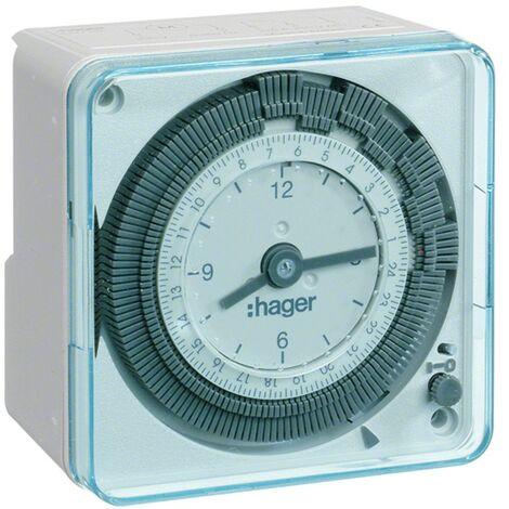 Interruptor de tiempo Hager gioraliero 72X72 pared EH711