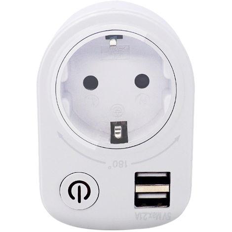 Interruptor de zocalo inteligente con cuenta regresiva USB
