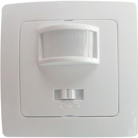 Interruptor detector movimiento por infrarrojos empotrable (Electro DH 36.535/S/B)