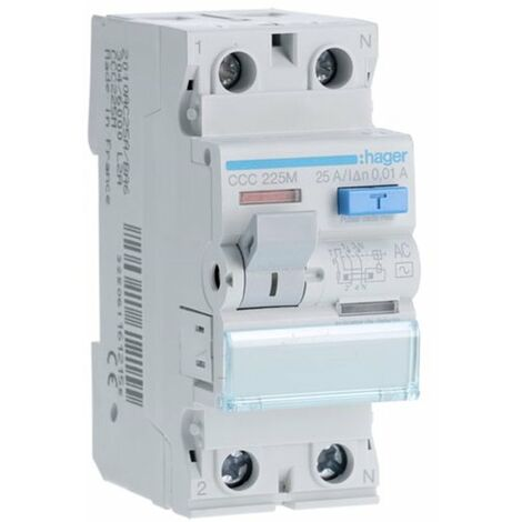Interruptor diferencial Hager CDC748M 2P 40A 30mA TIPO-AC