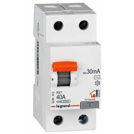 Interruptor Diferencial Legrand 402057 RX3 para vivienda 2 polos 40 A 30ma