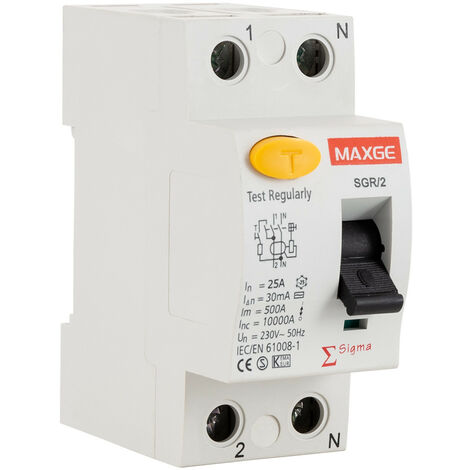 Interruptor Diferencial Residencial 2P-300mA-Clase AC-10kA