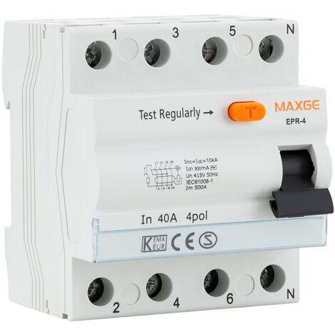 Interruptor Diferencial Residencial 4P-300mA-Clase AC-6kA