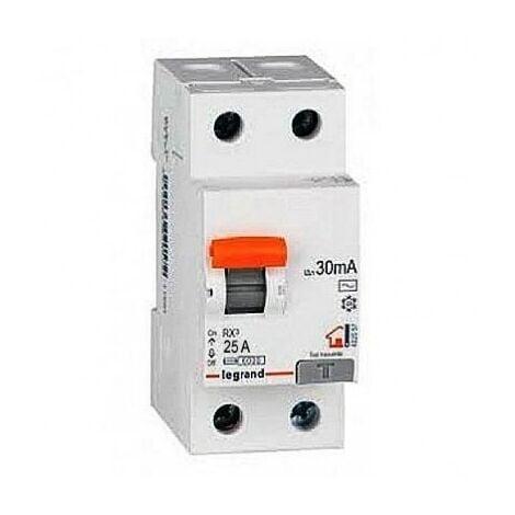 Interruptor Diferencial Superinmunizado Legrand 402059 RX3 para vivienda 2 polos 25 A 30ma