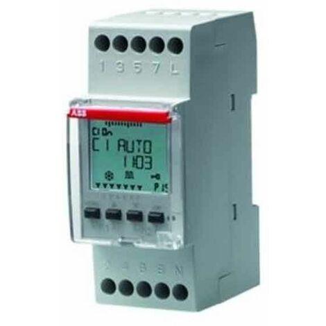 Interruptor ABB digital de Tiempo semanal diario 2 Módulos M258763