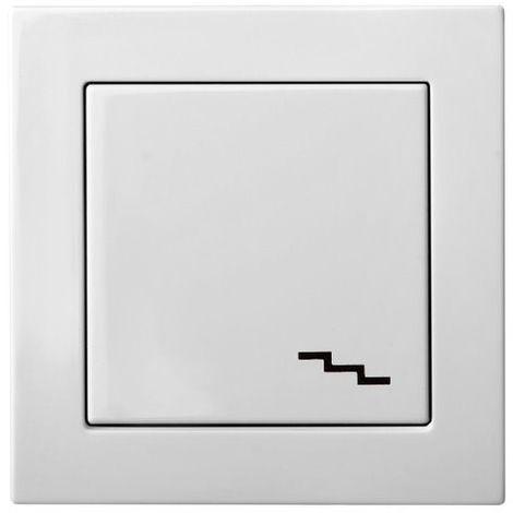 interruptor direccional de montaje enrasado de 1 v�a sin marco, blan