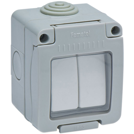 Interruptor Doble Estanco Ip55 - FAMATEL - 19044 - 10 AMP