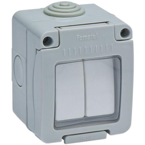 Interruptor Doble Estanco Ip55 - FAMATEL - 19044 - 10 AMP