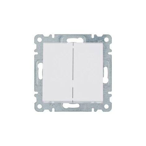 Interruptor doble Hager Lumina Intense WL0040 color Blanco