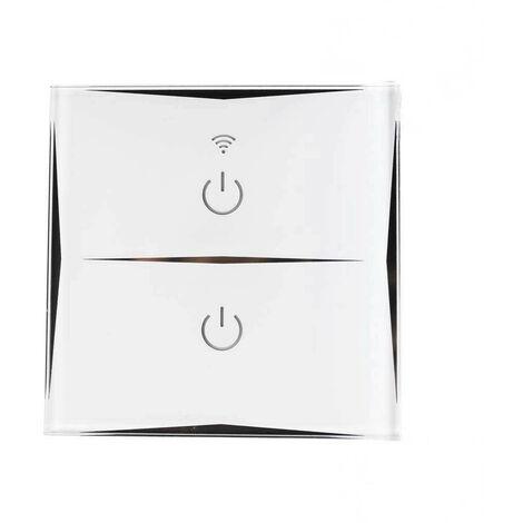 Interruptor Doble WiFi de Pared vía Smartphone/APP 7hSevenOn Home