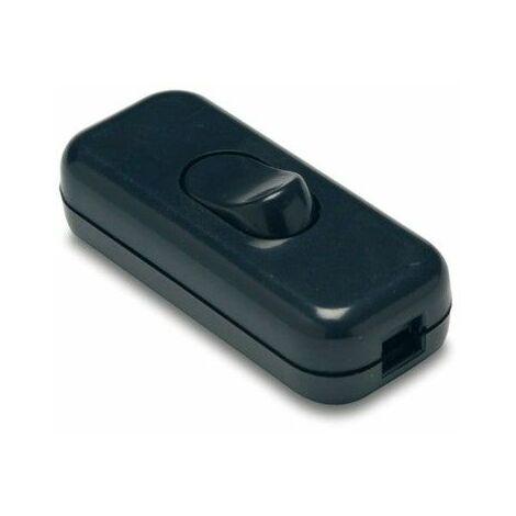 Interruptor Electricidad 25X60X15 2A-250V De Paso Pvc Negro Famat