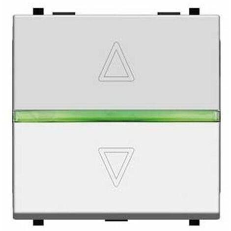 Interruptor electrónico ancho para persianas Blanco Niessen Zenit N2261.2 BL