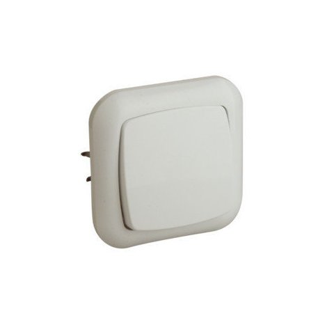 Interruptor empotrable 6 A/250 V Electro Dh 36.530/P, color blanco, 8430552083954