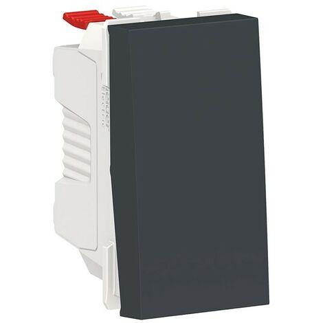 Interruptor estrecho antracita Schneider New Unica NU310154