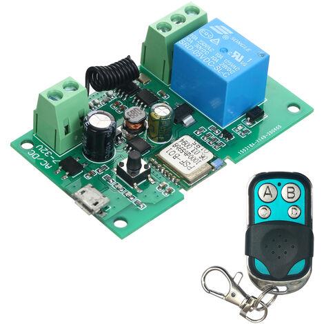 Interruptor eWeLink DC 5V 12V 24V 32V Wifi RF 433MHz Modulo de rele Smart Home Automation Modulos Telefono aplicacion de control remoto del interruptor de control de temporizador Alexa Google Inicio de control por voz, con un control remoto de metal