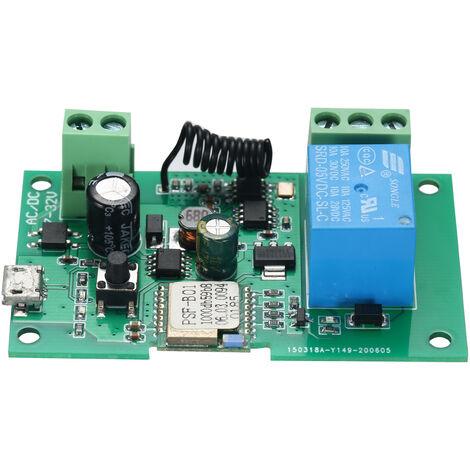 Interruptor eWeLink DC 5V 12V 24V 32V Wifi RF 433MHz Modulo de rele Smart Home Automation Modulos Telefono aplicacion de control remoto del interruptor de control de temporizador Alexa Google Inicio de control por voz, sin control remoto