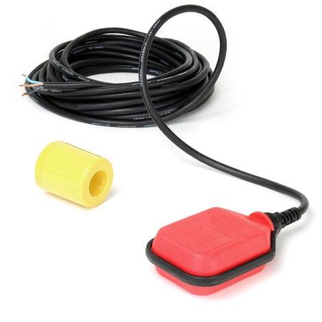 Interruptor flotante, conmutador flotador avisador alarma de nivel de agua con cable de 10m 250V 16A