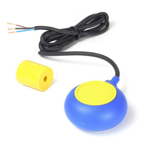 Interruptor flotante PVC, conmutador avisador alarma de nivel de agua con cable de 2m 250V 16A