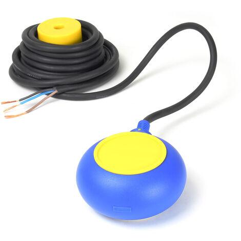 Interruptor flotante PVC, conmutador avisador alarma de nivel de agua con cable de 5m 250V 16A