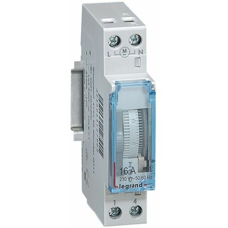 Interruptor horario 16A Analogico con reserva 1 módulo Legrand 412790