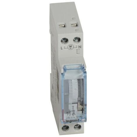 Interruptor horario 16A Analogico sin reserva 1 módulo Legrand 412780