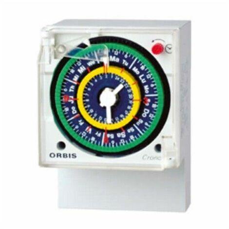 Interruptor horario analógico semanal CRONO QRSD Orbis 051223
