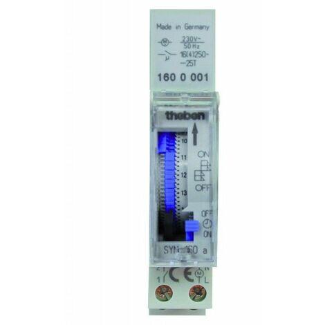 "main image of ""Interruptor horario analogico THEBEN SYN160a carril din 1600087"""