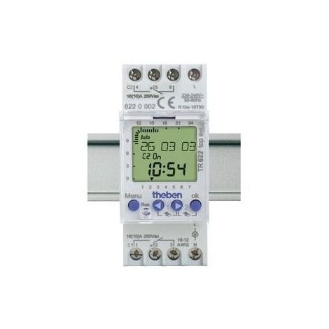 Interruptor horario digital Theben 6224002 24/7 TR 622 Top 12-24 - 2 m