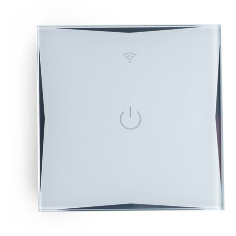 Interruptor Inteligente Táctil Cristal 1 Vía 600W Compatible Google Home/Alexa [HIT-KS-601-1] (HIT-KS-601-1)