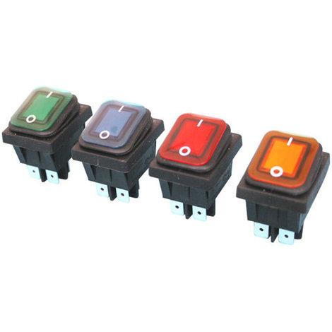 Interruptor luminoso 11.407.IL/NR estanco Electro DH Color Negro y Rojo 8430552141319