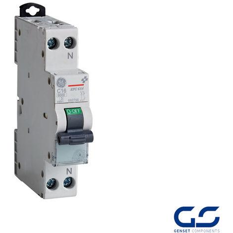 Interruptor magnetotérmico 1P+N DPN General Electric