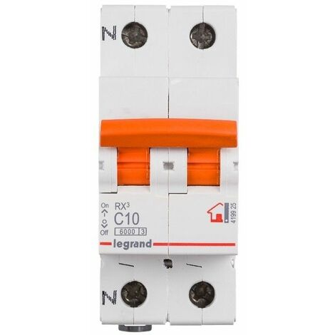 Interruptor magnetotermico para vivienda Legrand 419925 RX3 1P+N 6KA 10A