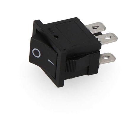 Interruptor negro empotrado pequeño envasado