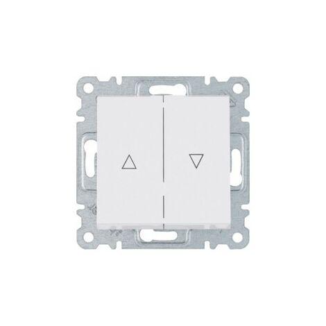 Interruptor para persiana Hager Lumina Intense WL0310 color Blanco