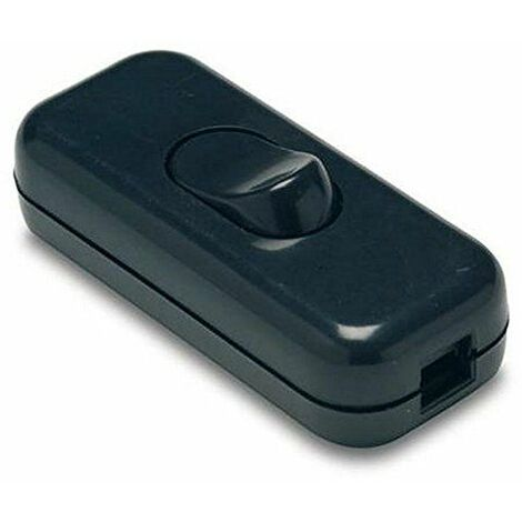 Interruptor pasante a/éreo Bipolar para l/ámpara 2A 250V Negro BeMatik