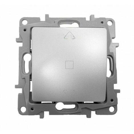 Interruptor persianas 3 posiciones Aluminio Niloe 665311