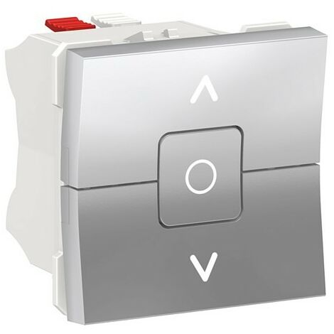 Interruptor persianas aluminio Schneider New Unica NU320830