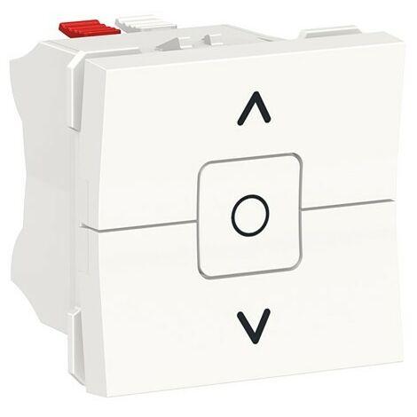 Interruptor persianas ancho blanco polar Schneider New Unica NU320818