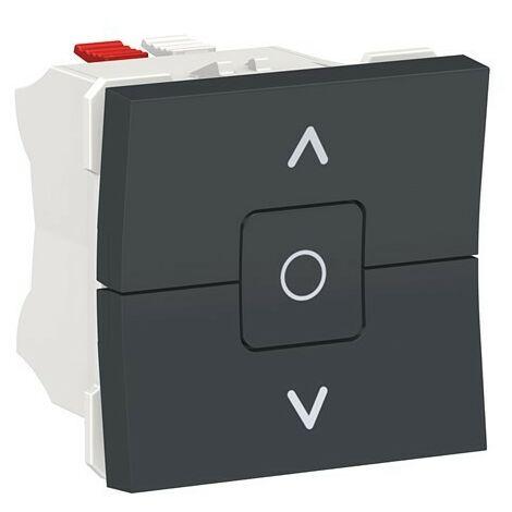Interruptor persianas antracita Schneider New Unica NU320818