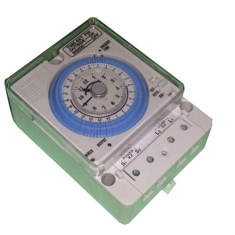 Interruptor programador horario diario analógico panel/carril