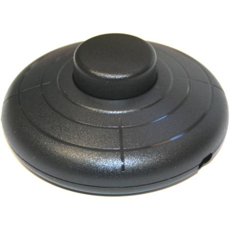 Interruptor Pulsador de sobremesa o pie 2A/250V, color negro Electro DH 11.645.P/N 8430552118861