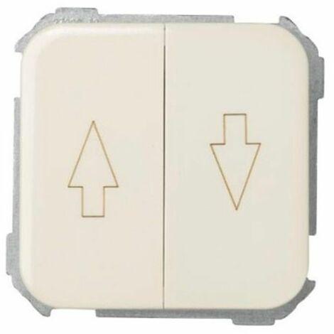 Interruptor Pulsador Para Persianas con Tecla SIMON 31 31331 Blanco. - Blanco